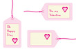 oh happy day, be my valentine gift tags