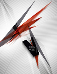 Geometric shape line lightning business background