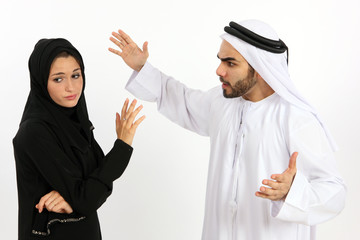 Arab Couple Arguing
