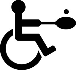 Disabled people play tennis icon