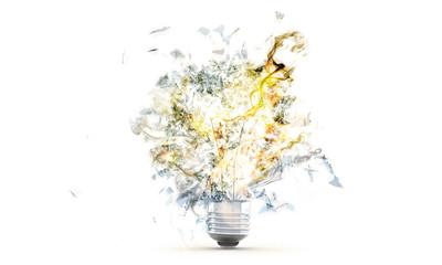 Bulb lamp explosion