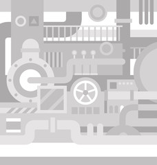 Mechanical industrial background