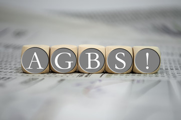 Würfel mit AGBs