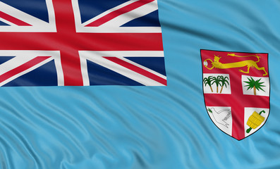 3D Fiji flag