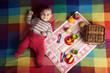 cute little baby on picnic portrait