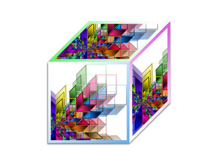 Cube - Abstract geometrical shape