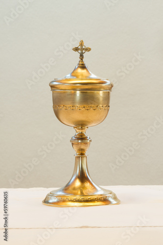 golden communion cup