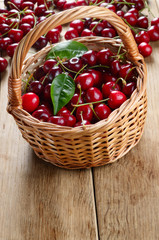 Basket of organic Cherries