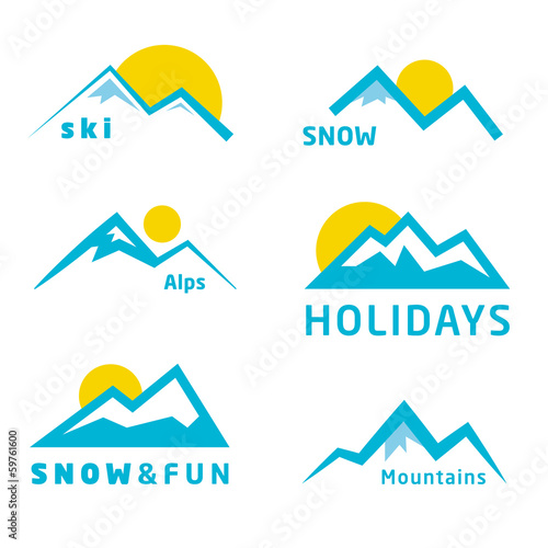 Mountains icon collection