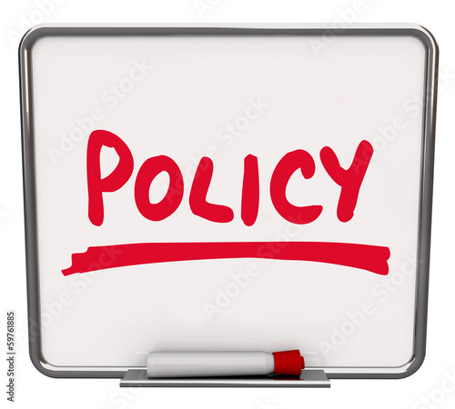 Policy Word Notice Board Follow Procedure Compliance