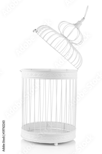 Beautiful decorative cage, isolated on white