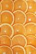 Orangen Scheiben bilden einen Hintergrund