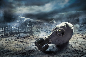 Gas mask in quemical war