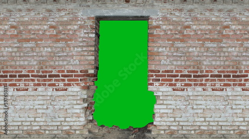 doorway in a brick wall
