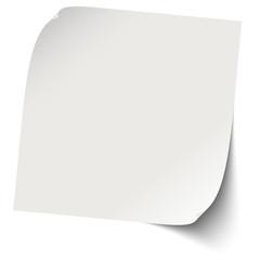 Zettel / Notiz grau blank