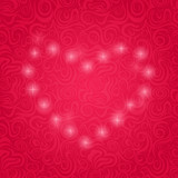 Pink Background with Sparkle Heart.