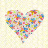 Floral Heart Invitation Valentine Day Card