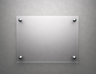 Blank frosted glass