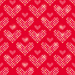 Polka Dot Heart Seamless Pattern