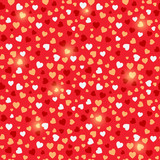 Seamless Valentine Red Background