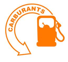 carburants flèche orange