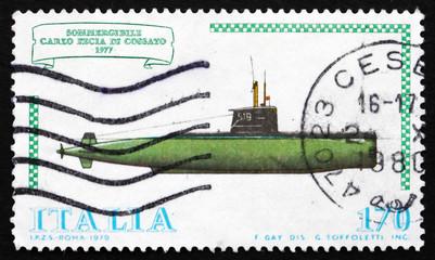 Postage stamp Italy 1979 Submarine Carlo Fecia