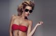 Portrait of attractive girl in sunglasses
