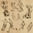 FOOTBALL - Soccer. Collection of an hand drawn illustrations