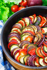 Ratatouille in a pan