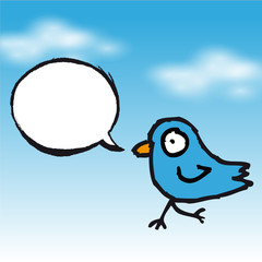 Tweet blue bird