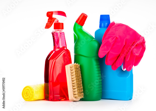 cleaning equipment isolated on white - 59770412