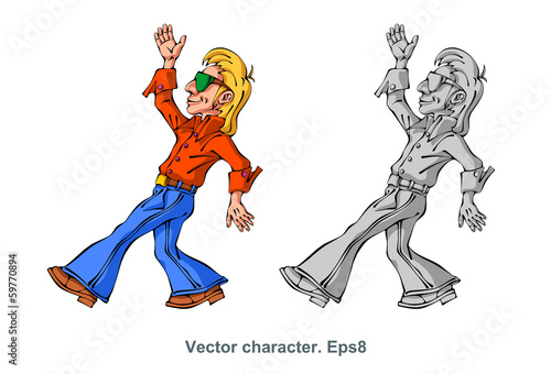 Vector character, dancer, cartoon