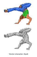 Vector character, dancer, cartoon