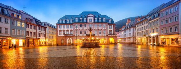 Heidelberger Marktplatz Panorama