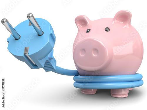 Energiesparen Sparschwein