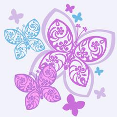 schmetterlinge lila