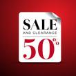 Sale 50% label