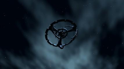 Raumstation im Weltraum