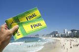 Tickets to Football Soccer Final at Copacabana Beach Rio Brazil