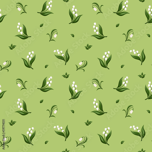 Seamless pattern with spring flowers. Vector illustration.