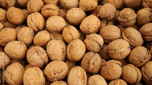 Walnuts background, dolly shot