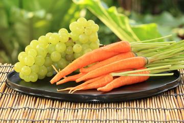 Fresh Carrot and Grape