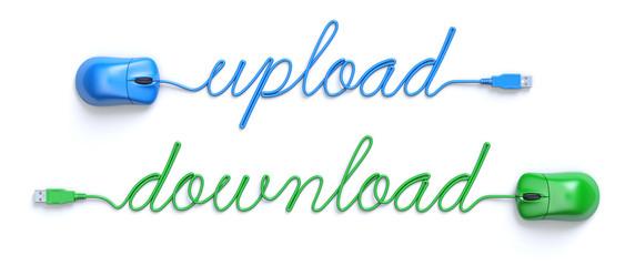 Upload - download concept