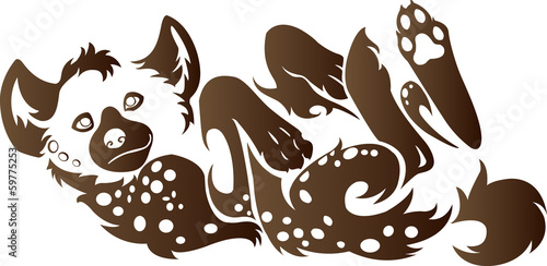 Hyena animal tribal for tattoo