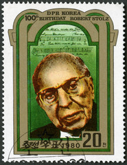 NORTH KOREA - 1980: shows Robert Stolz (1880-1975), Composer