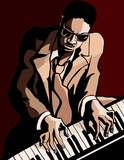 afro american jazz pianist - 59776056