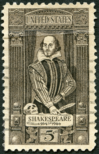 USA - 1964: shows William Shakespeare (1564-1616)