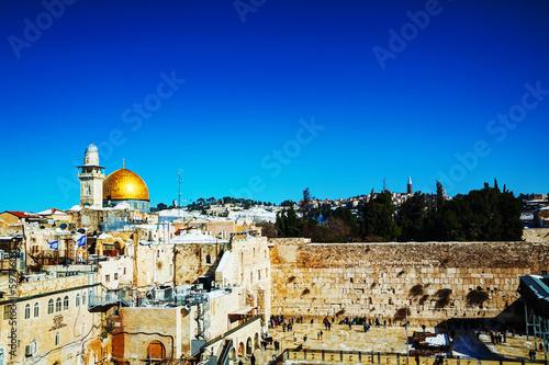 Fototapeta The Western Wall in Jerusalem, Israel