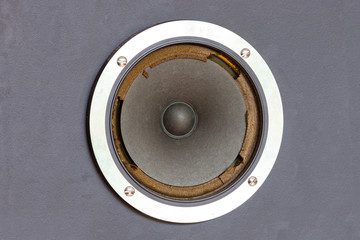Old ruined speaker sound system.