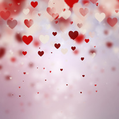Beautiful valentine background with hearts